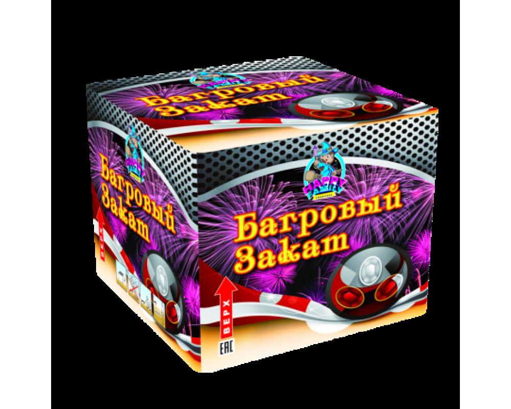 Батарея салютов Багровый закат (Фейерверк 36 залпов)